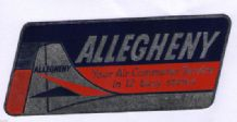 Airline luggage label Allegheny air line .  #846